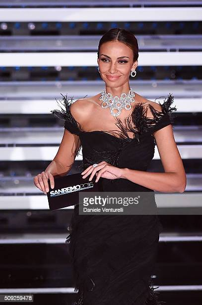 Madalina Ghenea attends the opening night of the 66th Festival di Sanremo 2016 at Teatro Ariston on February 9 2016 in Sanremo Italy