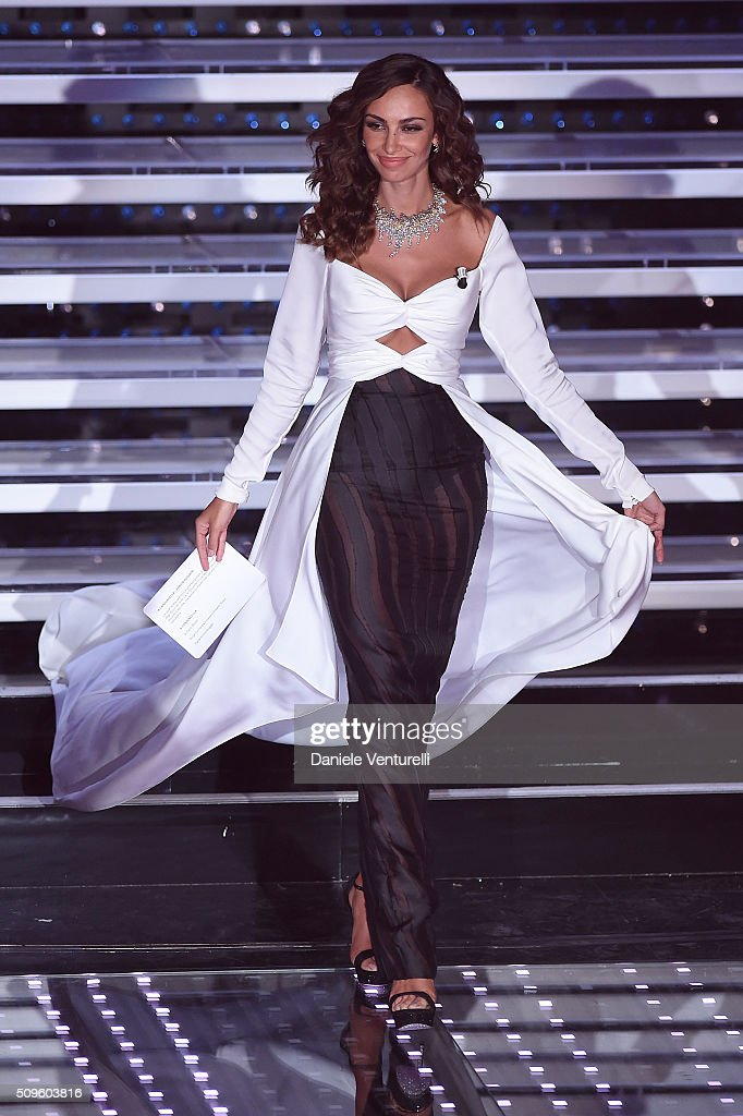 Madalina Ghenea attends the third night of the 66th Festival di Sanremo 2016 at Teatro Ariston on February 11, 2016 in Sanremo, Italy.