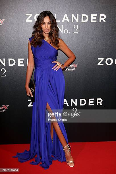 Madalina Ghenea attends the 'Zoolander No 2' Rome Fan Screening on January 30 2016 in Rome Italy