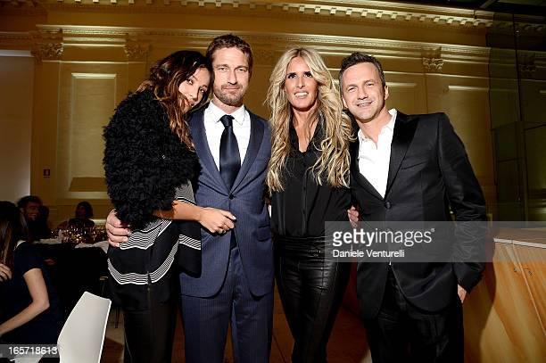 Madalina Ghenea Gerard Butler Tiziana Rocca and Roberto Proia CEO of Notorius attend a gala dinner by Antonello Colonna for the movie 'Olympus Has...