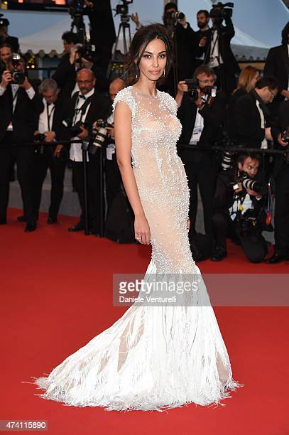 Madalina Ghenea leaves the 'Youth' Premiere during the 68th annual Cannes Film Festival on May 20 2015 in Cannes France