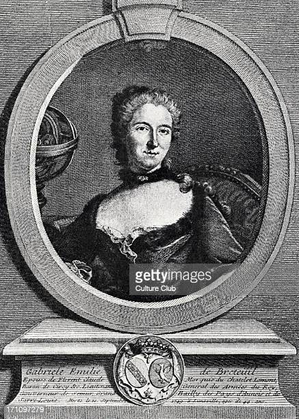 Madame du Châtelet portrait of Voltaire's friend a scientist with a lab at Cirey whose ideas he admired and with whom he corresponded at length...