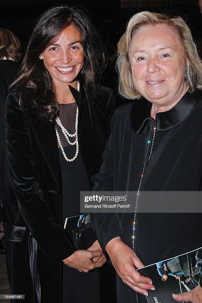 Madame Francois Pinault (R) and <a gi-track='captionPersonalityLinkClicked' href=/galleries/search?phrase=Ines+Sastre&family=editorial&specificpeople=206220 ng-click='$event.stopPropagation()'>Ines Sastre</a> attend AROP Gala Dinner on October 18, 2012 in Paris, France.