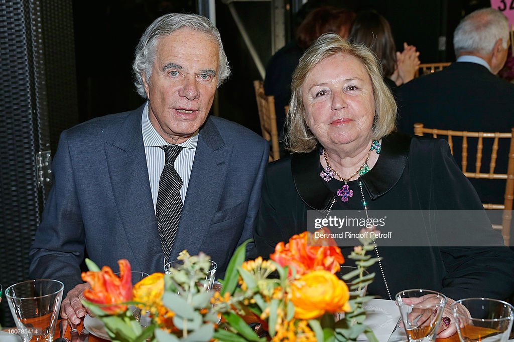 Madame Francois Pinault (R) and Jean-Gabriel Mitterrand attend the 8th Annual Dinner of the 'Societe Des Amis Du Musee D'Art Moderne' at Centre Pompidou on February 5, 2013 in Paris, France.