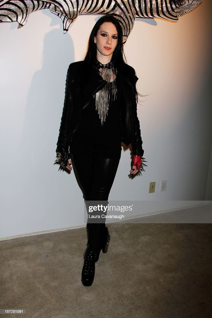Madame Mayhem attends Kevin McHugh Pucci-Inspired Sculpture Collection launch at The Out NYC on November 30, 2012 in New York City.