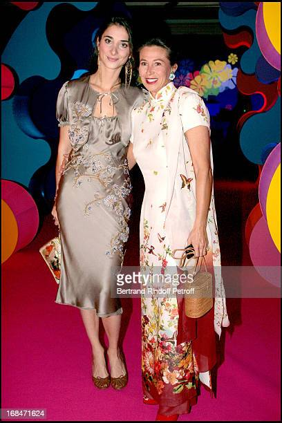 Madame Patrick Ricard and daughter Lorraine at The 9th Bal Jaune With La Fondation D'Entreprises Ricard And Beaux Arts Magazine Held At Le Doyen...