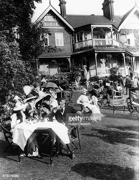 Madame Pavlova's Garden Party At Hampstead Tea on the lawn June 1912