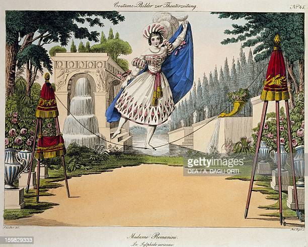 Madame Romanini in the role of an aerial sylphide in the ballet La Sylphide Vienna 1883 Colour print 19th century Vienna Historisches Museum Der...