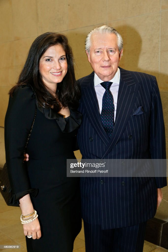 Madame Stanislas Segard and Count Jean de Ribes attend the dinner party of the Societe Des Amis Du Musee D'Orsay (The Friends of Orsay Museum Society) at Musee d'Orsay on March 24, 2014 in Paris, France.
