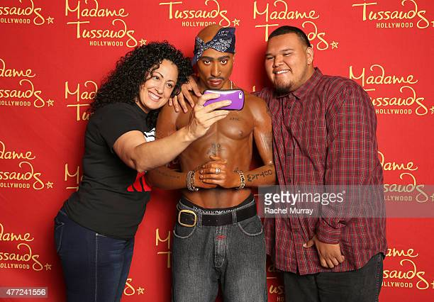Madame Tussauds Hollywood commemorates Tupac Shakur's 44th birthday with wax figure on June 15 2015 in Hollywood California