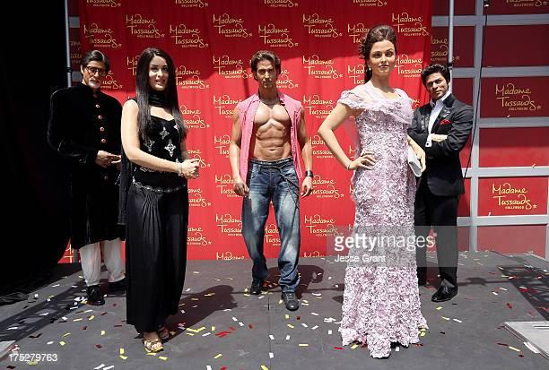 Madame Tussauds Hollywood Unveils 5 New Bollywood Figures featuring Bollywood actors Amitabh Bachchan Kareena Kapoor Hrithik Roshan Aishwarya Rai and...