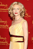 Madame Tussauds Hollywood unveils a wax figure of actress Cate Blanchett in time for the Oscars at TCL Chinese Theatre on February 19 2015 in...