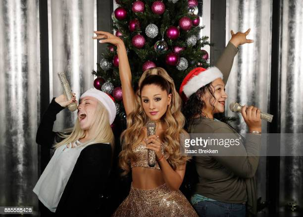 Madame Tussauds Las Vegas launches Ariana Grande wax figure with fans on November 29 2017 in Las Vegas Nevada