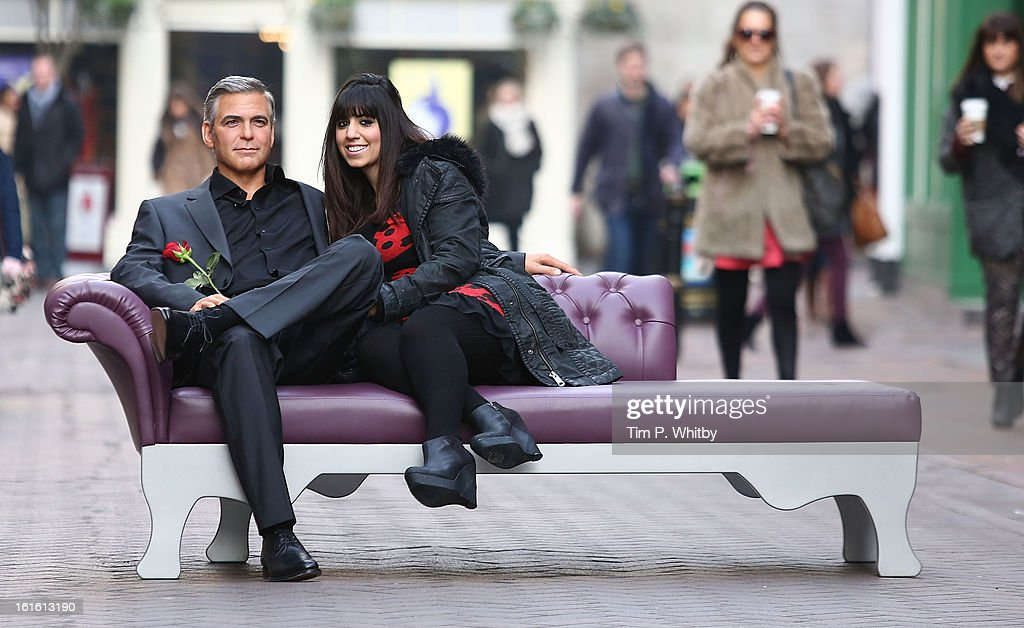 Madame Tussauds launch the new <a gi-track='captionPersonalityLinkClicked' href=/galleries/search?phrase=George+Clooney&family=editorial&specificpeople=202529 ng-click='$event.stopPropagation()'>George Clooney</a> waxwork ahead of Valentine's Day at Carnaby Street on February 13, 2013 in London, England.