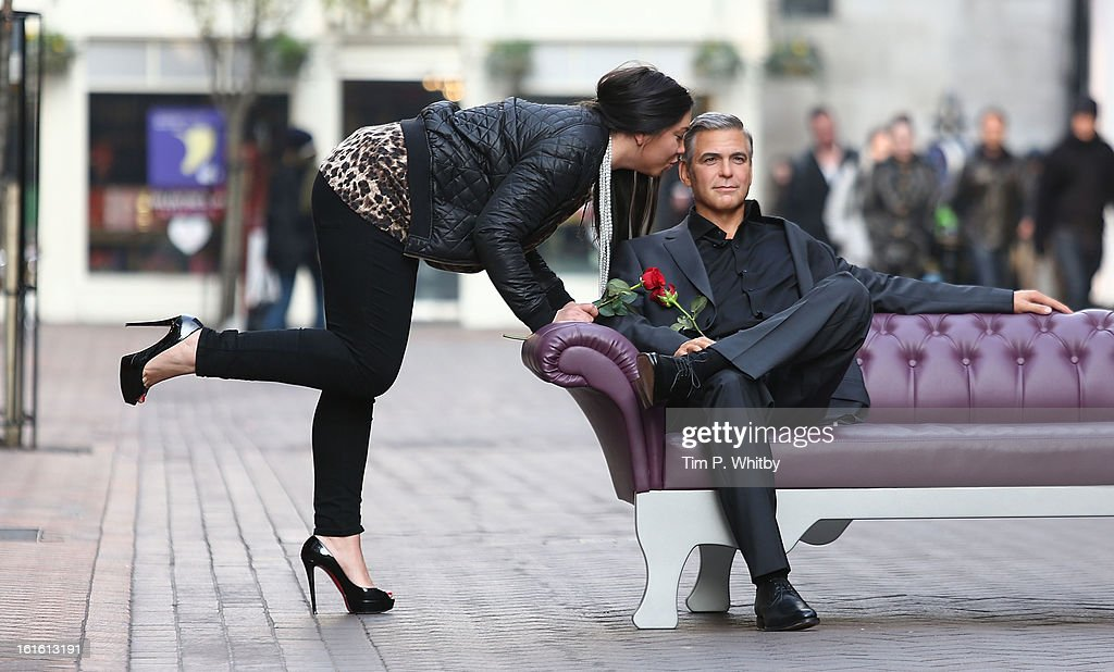Madame Tussauds launch the new George Clooney waxwork ahead of Valentine's Day at Carnaby Street on February 13, 2013 in London, England.