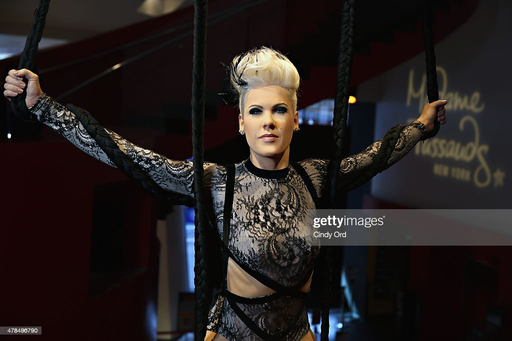 Madame Tussauds New York debuts a never before seen wax figure of singer Pink on June 25 2015 in New York City