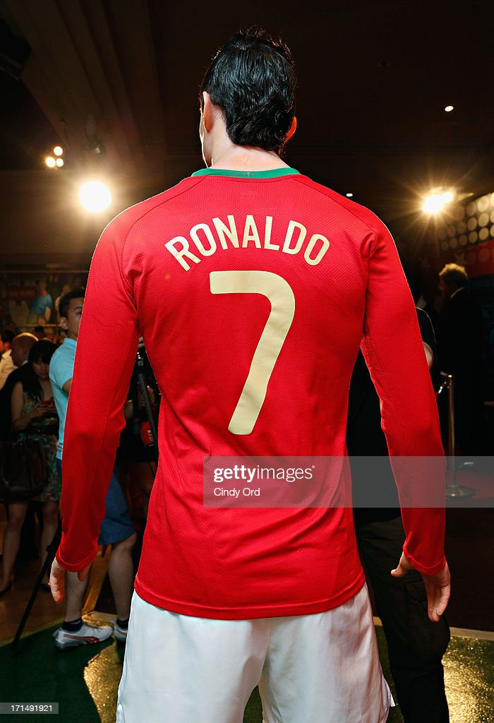 Madame Tussauds New York launches a <a gi-track='captionPersonalityLinkClicked' href=/galleries/search?phrase=Cristiano+Ronaldo+-+Calciatore&family=editorial&specificpeople=162689 ng-click='$event.stopPropagation()'>Cristiano Ronaldo</a> wax figure on June 25, 2013 in New York City.