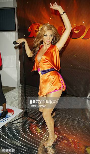 Madame Tussauds New York launches it's newest interactive Beyonce Knowles wax figure May 26 2004 in New York City