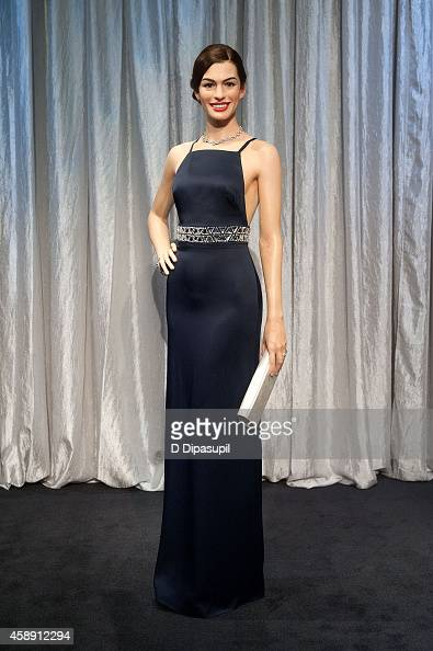 Madame Tussauds New York unveils a neverbeforeseen Anne Hathaway wax figure at Madame Tussauds on November 13 2014 in New York City