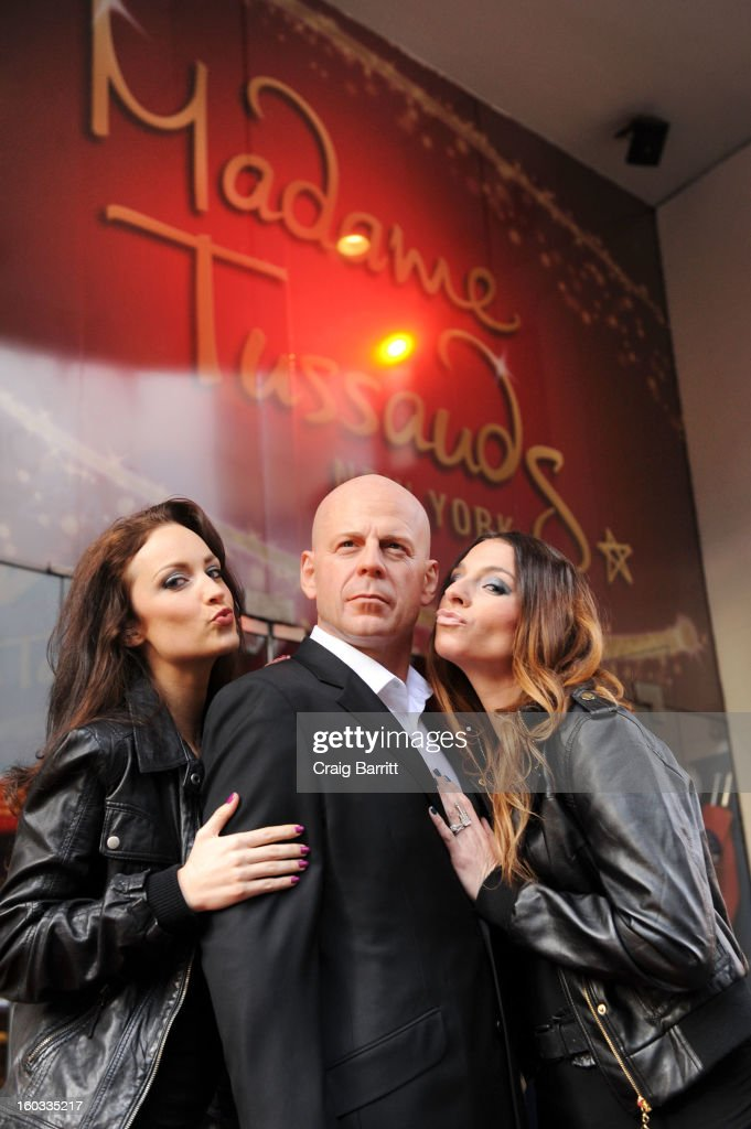Madame Tussauds New York unveils a wax figure of actor Bruce Willis in Times Square on Tuesday, January 29, 2013 in New York City. Artists from the famed wax attraction took more than three months to complete the wax likeness, which was launched in time for the next 'Die Hard' installment, 'A Good Day to Die Hard'.