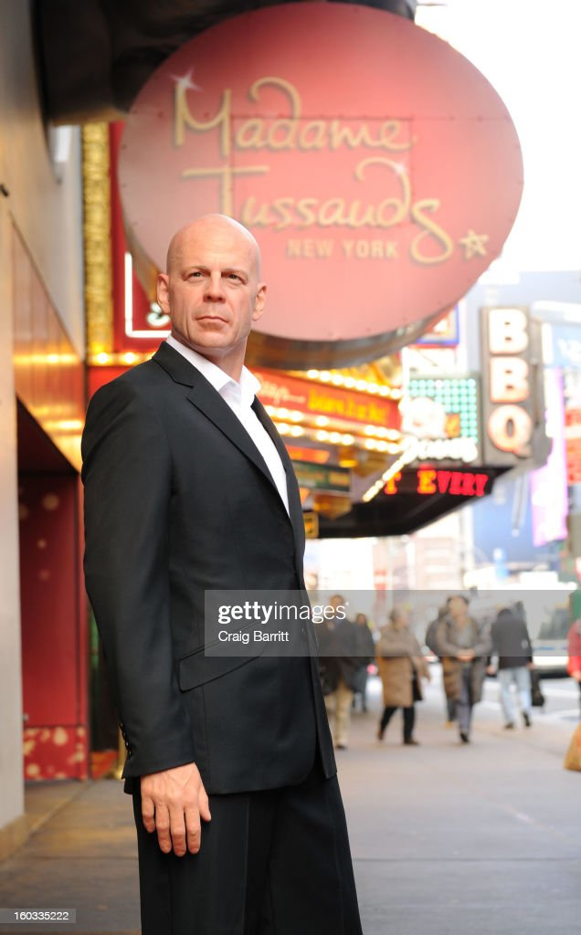 Bruce Willis Wax Figure Unveiling At Madame Tussauds New York