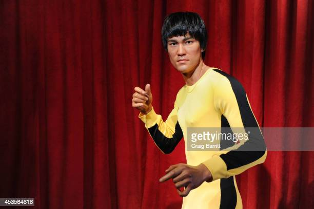 Madame Tussauds New York welcomes Bruce Lee's wax figure for a limited time at Madame Tussauds on August 13 2014 in New York City