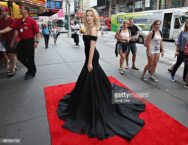 Madame Tussauds New York's unveils firstever wax figure of actress Scarlett Johansson on July 30 2015 in New York City