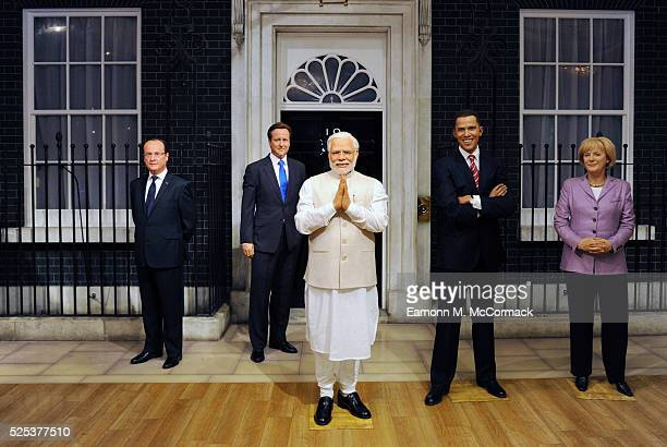 Madame Tussauds present a new wax figure of Narendra Modi Prime Minister of India it joins other World leader figures at Madame Tussauds on April 28...