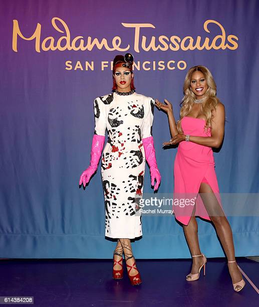 Madame Tussauds San Francisco unveils Laverne Cox as Dr FrankNFurter from 'Rocky Horror Picture Show' at Madame Tussauds on October 13 2016 in...