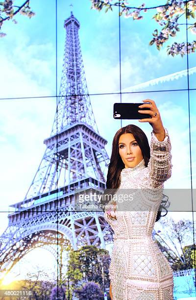 Madame Tussauds unveil a new wax figure of Kim Kardashian which takes selfies against changing location backdrops at Madame Tussauds on July 9 2015...