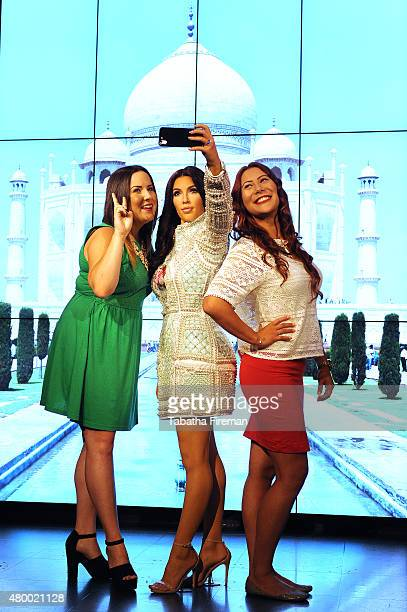 Madame Tussauds unveil a new wax figure of Kim Kardashian which takes selfies against changing location backdrops at Madame Tussauds Fans Lucy Jenner...
