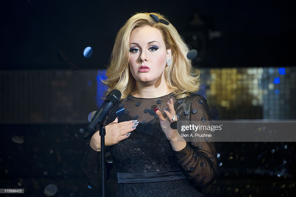 Madame Tussauds unveil waxwork figure of Adele at Madame Tussauds on July 3, 2013 in London, England.