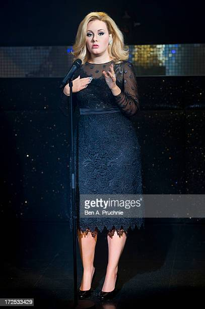 Madame Tussauds unveil waxwork figure of Adele at Madame Tussauds on July 3 2013 in London England