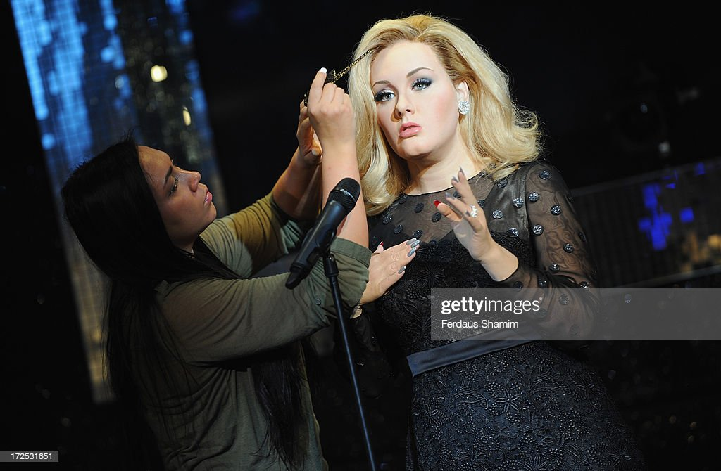 Madame Tussauds unveil waxwork of Adele at Madame Tussauds on July 3, 2013 in London, England.