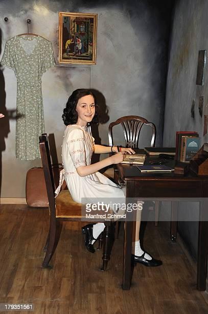 Madame Tussauds unveils a new waxwork of Anne Frank at Madame Tussauds Vienna on September 2 2013 in Vienna Austria