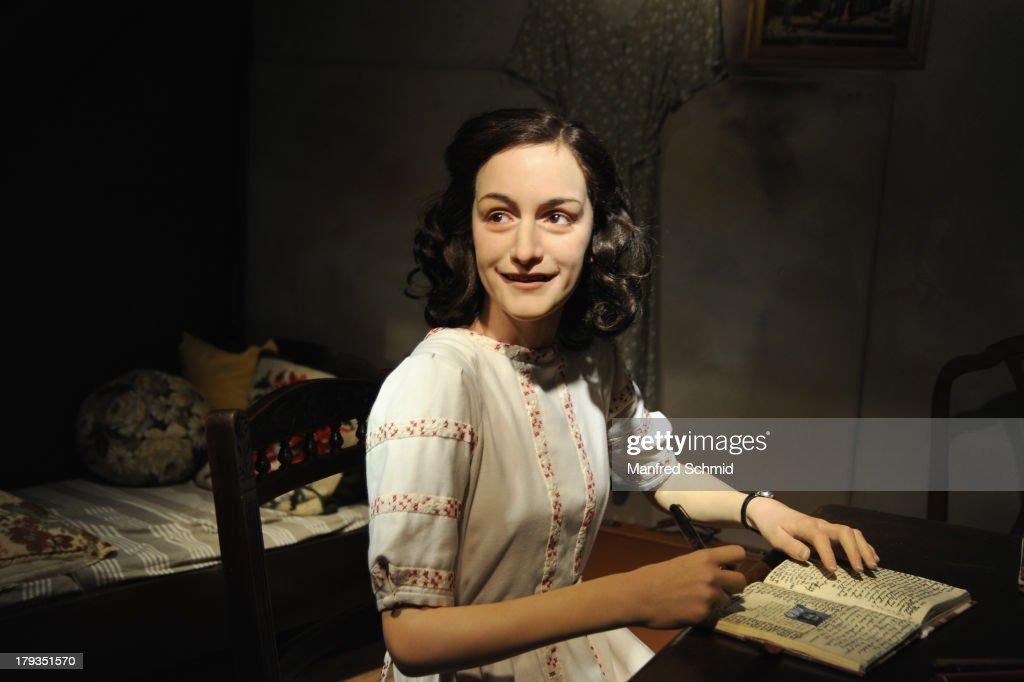Madame Tussauds unveils a new waxwork of Anne Frank at Madame Tussauds Vienna on September 2, 2013 in Vienna, Austria.