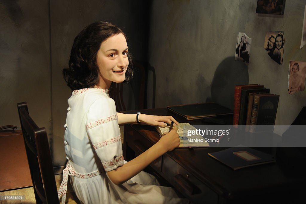 Madame Tussauds unveils a new waxwork of Anne Frank at Madame Tussauds Vienna on September 2, 2013 in Vienna, Austria.