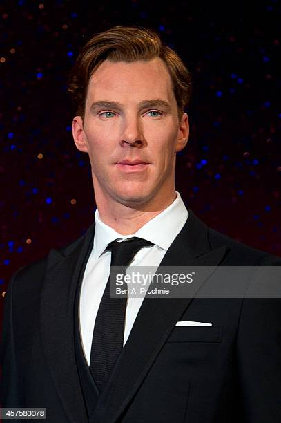 Madame Tussauds unveils the new wax figure of Benedict Cumberbatch at Madame Tussauds on October 21 2014 in London England