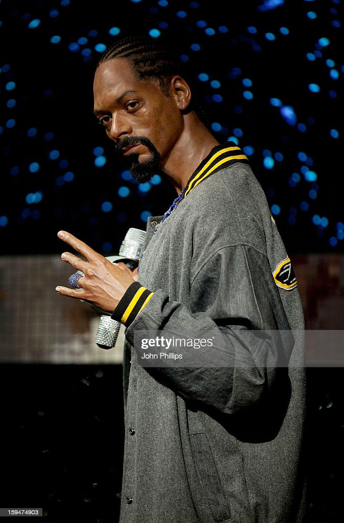 Madame Tussauds unveils the wax figure of rap star Snoop Dogg exhibited for the first time in London at Madame Tussauds on January 14, 2013 in London, England