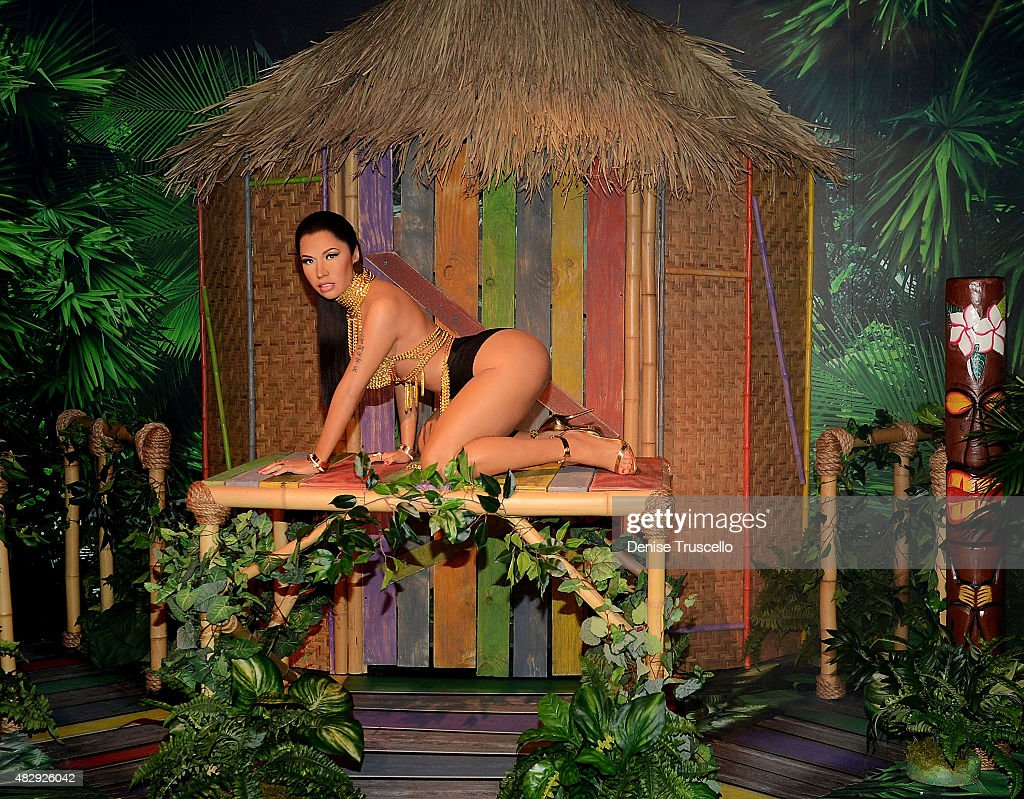 Madame Tussauds unveils the world's first Nicki Minaj wax figure In Las Vegas on August 4 2015 in Las Vegas Nevada