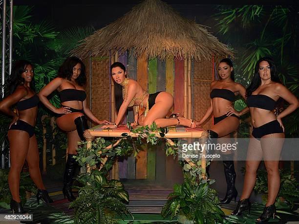 Madame Tussauds unveils the world's first Nicki Minaj wax figure In Las Vegas on August 4 2015 in Las Vegas Nevada