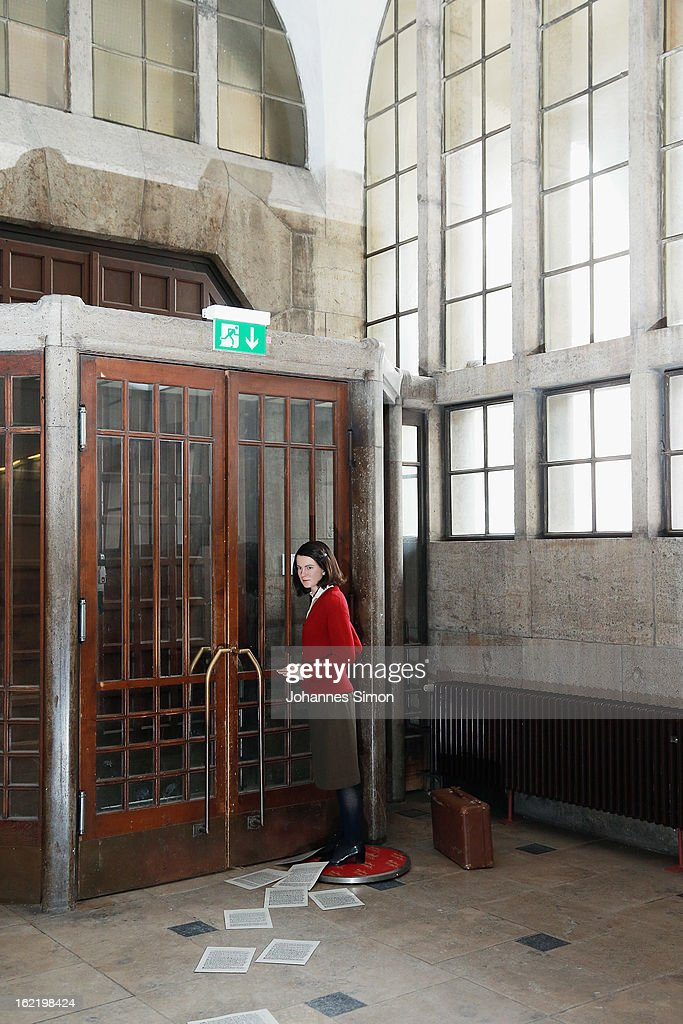 A Madame Tussauds wax effigy of Sophie Scholl, one of the most famous members of the German World War II anti-Nazi resistance movement, The White Rose is displayed near to one of the backside entrance doors at Ludwig Maximilian University on February 20, 2013 in Munich, Germany. Sophie Scholl, whose active opposition to the Nazis led to her execution 70 years ago, was a student at Munich University, where she printed and distributed anti-Nazi leaflets. To commemorate the day of her death, the wax effigy was moved for a photo call to Munich from Madame Tussauds wax cabinet at Berlin.