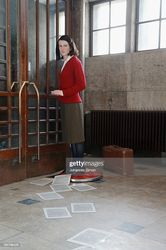 A Madame Tussauds wax effigy of <a gi-track='captionPersonalityLinkClicked' href=/galleries/search?phrase=Sophie+Scholl&family=editorial&specificpeople=2464061 ng-click='$event.stopPropagation()'>Sophie Scholl</a>, one of the most famous members of the German World War II anti-Nazi resistance movement, The White Rose is displayed near to one of the backside entrance doors at Ludwig Maximilian University on February 20, 2013 in Munich, Germany. <a gi-track='captionPersonalityLinkClicked' href=/galleries/search?phrase=Sophie+Scholl&family=editorial&specificpeople=2464061 ng-click='$event.stopPropagation()'>Sophie Scholl</a>, whose active opposition to the Nazis led to her execution 70 years ago, was a student at Munich University, where she printed and distributed anti-Nazi leaflets. To commemorate the day of her death, the wax effigy was moved to Munich for one day from Madame Tussauds wax cabinet at Berlin.