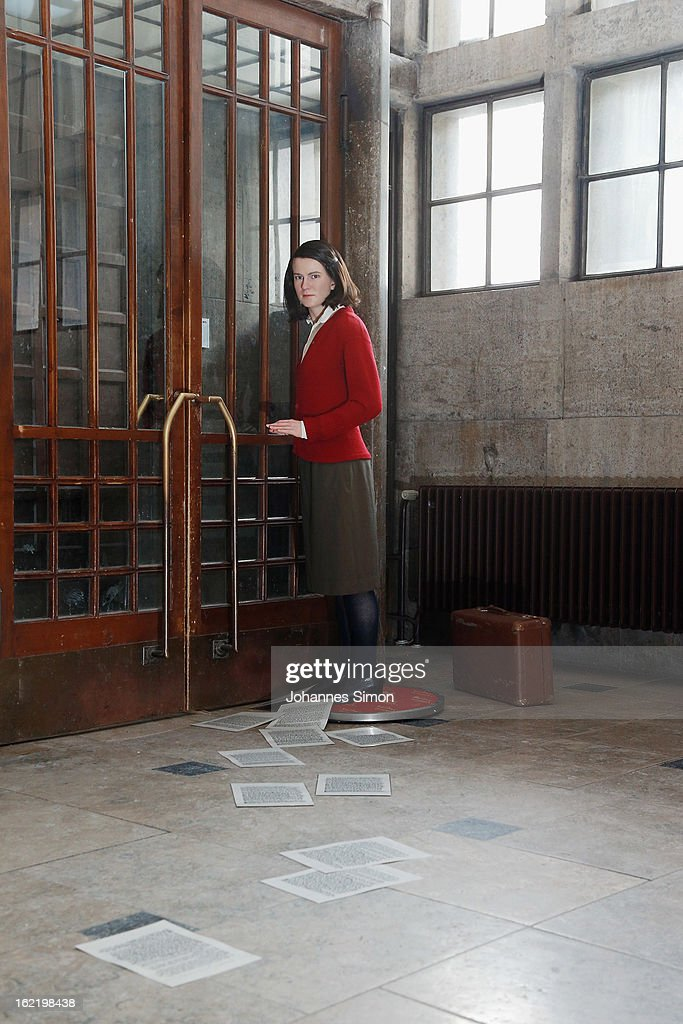 A Madame Tussauds wax effigy of <a gi-track='captionPersonalityLinkClicked' href=/galleries/search?phrase=Sophie+Scholl&family=editorial&specificpeople=2464061 ng-click='$event.stopPropagation()'>Sophie Scholl</a>, one of the most famous members of the German World War II anti-Nazi resistance movement, The White Rose is displayed near to one of the backside entrance doors at Ludwig Maximilian University on February 20, 2013 in Munich, Germany. <a gi-track='captionPersonalityLinkClicked' href=/galleries/search?phrase=Sophie+Scholl&family=editorial&specificpeople=2464061 ng-click='$event.stopPropagation()'>Sophie Scholl</a>, whose active opposition to the Nazis led to her execution 70 years ago, was a student at Munich University, where she printed and distributed anti-Nazi leaflets. To commemorate the day of her death, the wax effigy was moved for a photo call to Munich from Madame Tussauds wax cabinet at Berlin.
