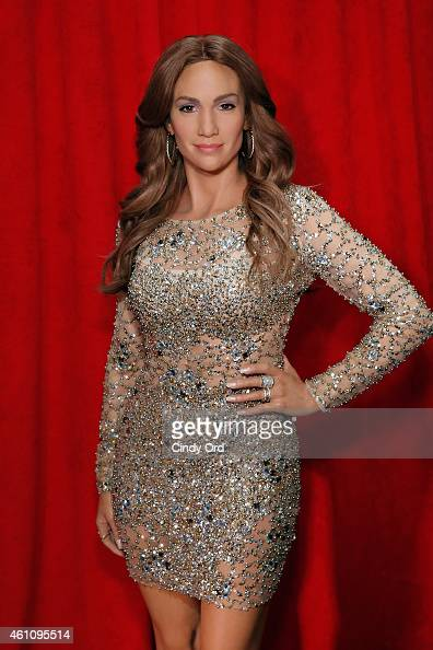 Madame Tussauds wax figure of Jennifer Lopez is unveiled at Madame Tussauds New York on January 6 2015 in New York City