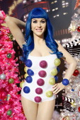 Madame Tussauds wax figure of singer Katy Perry is on display as Madame Tussauds New York unveils celebrity themed holiday trees at Madame Tussauds...