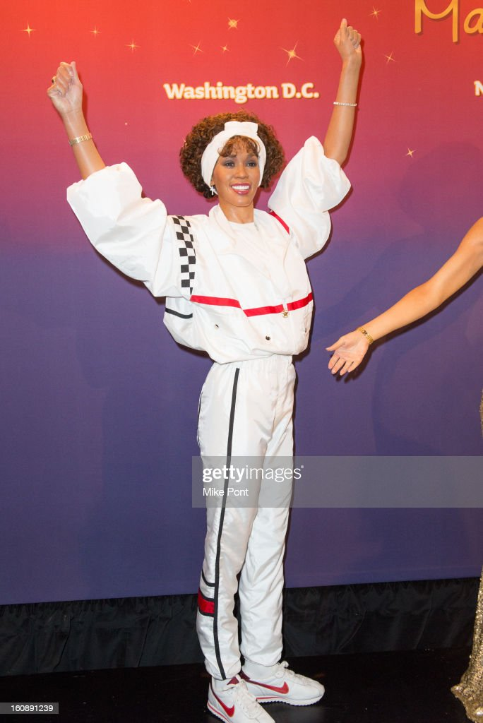 Madame Tussauds <a gi-track='captionPersonalityLinkClicked' href=/galleries/search?phrase=Whitney+Houston&family=editorial&specificpeople=201541 ng-click='$event.stopPropagation()'>Whitney Houston</a> Wax Unveiling at Madame Tussauds on February 7, 2013 in New York City.