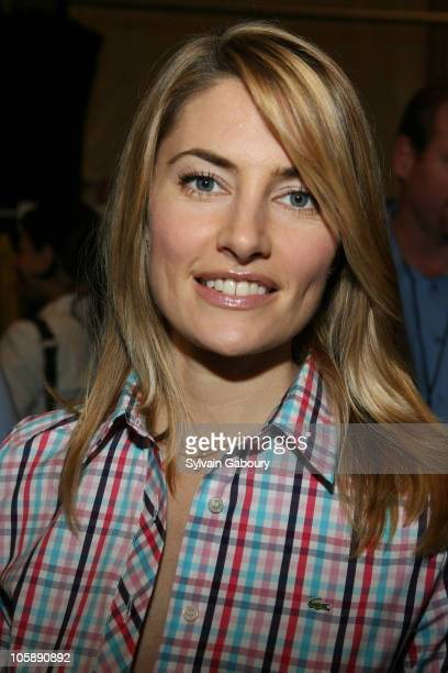 Madchen Amick during Olympus Fashion Week Fall 2006 Lacoste Backstage at Bryant Park in New York City New York United States