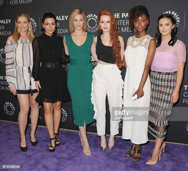 Madchen Amick Marisol Nichols Lili Reinhart Madelaine Petsch Ashleigh Murray and Camila Mendes arrive at the 2017 PaleyLive LA Spring Season...