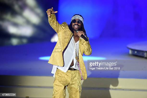 Madcon perform during the Life Ball 2015 show at City Hall on May 16 2015 in Vienna Austria